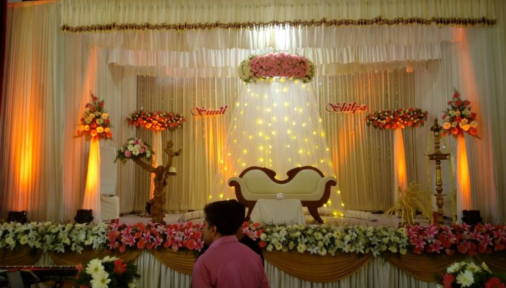 wedding stage decoration ernakulam kochi images with