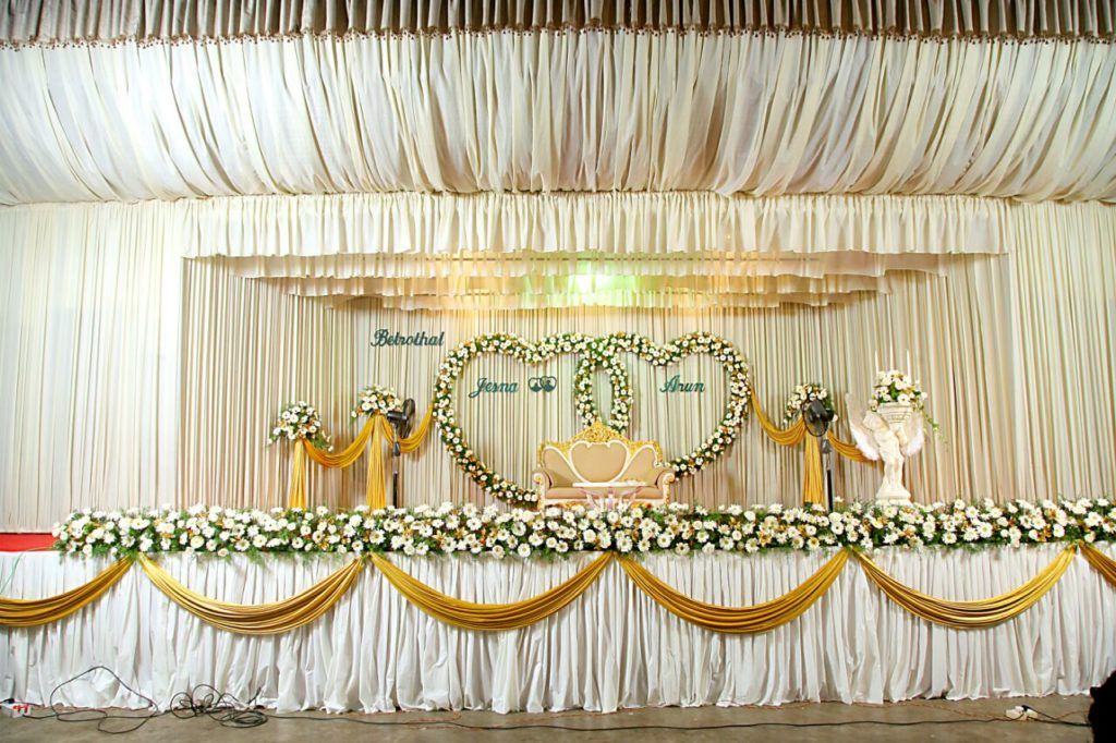 Wedding Stage Decoration at Thejus Wedding Hall Ernakulam