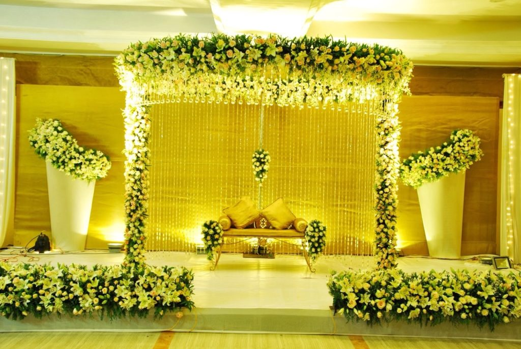 Wedding Stage Decoration in Kochi Ernakulam MK Convention Center Eramallur