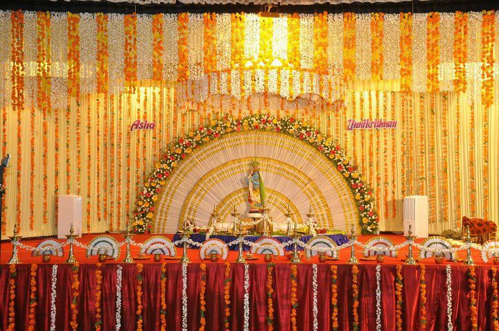Mandapam Decoration - Hindu Wedding Stage Decoration at SNDP Hall