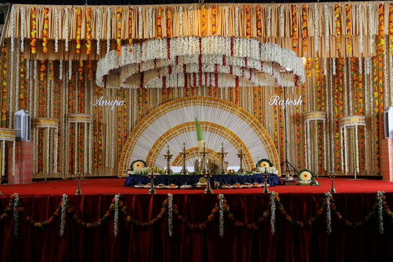 Hindu Wedding Stage Decoration Town Hall