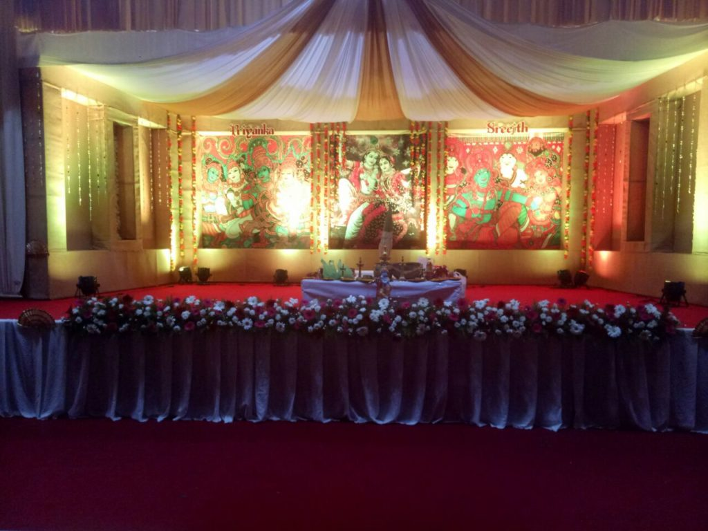 Hindu Wedding Stage Decoration Kochi