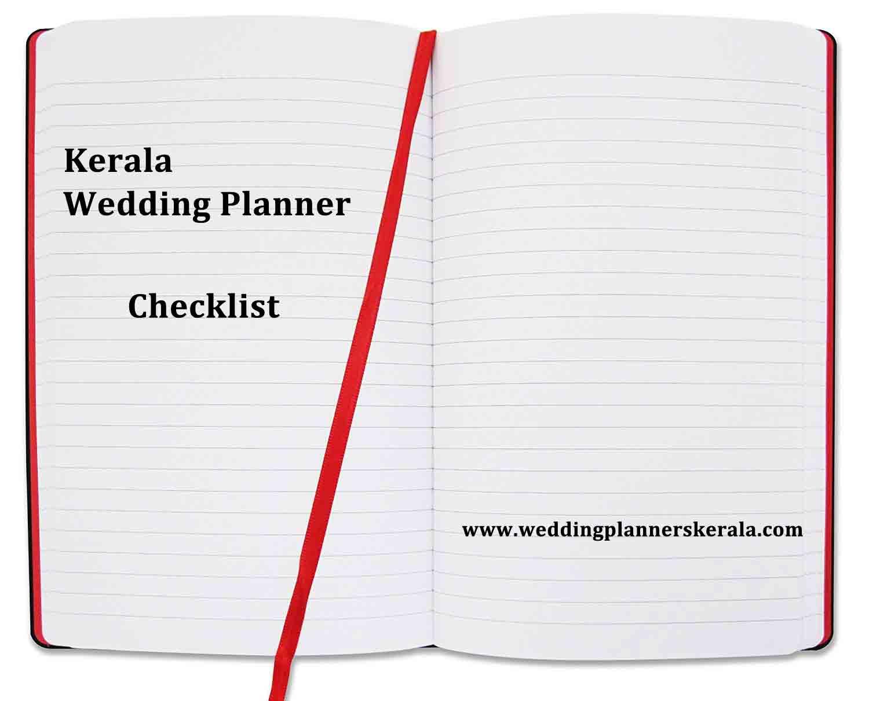 Kerala Wedding Planner Checklist