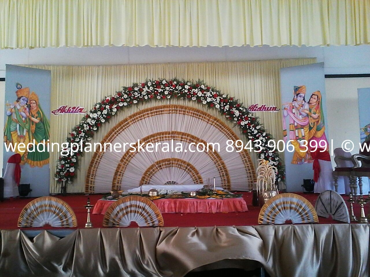 Kerala Traditional Wedding stage Decoration Images
