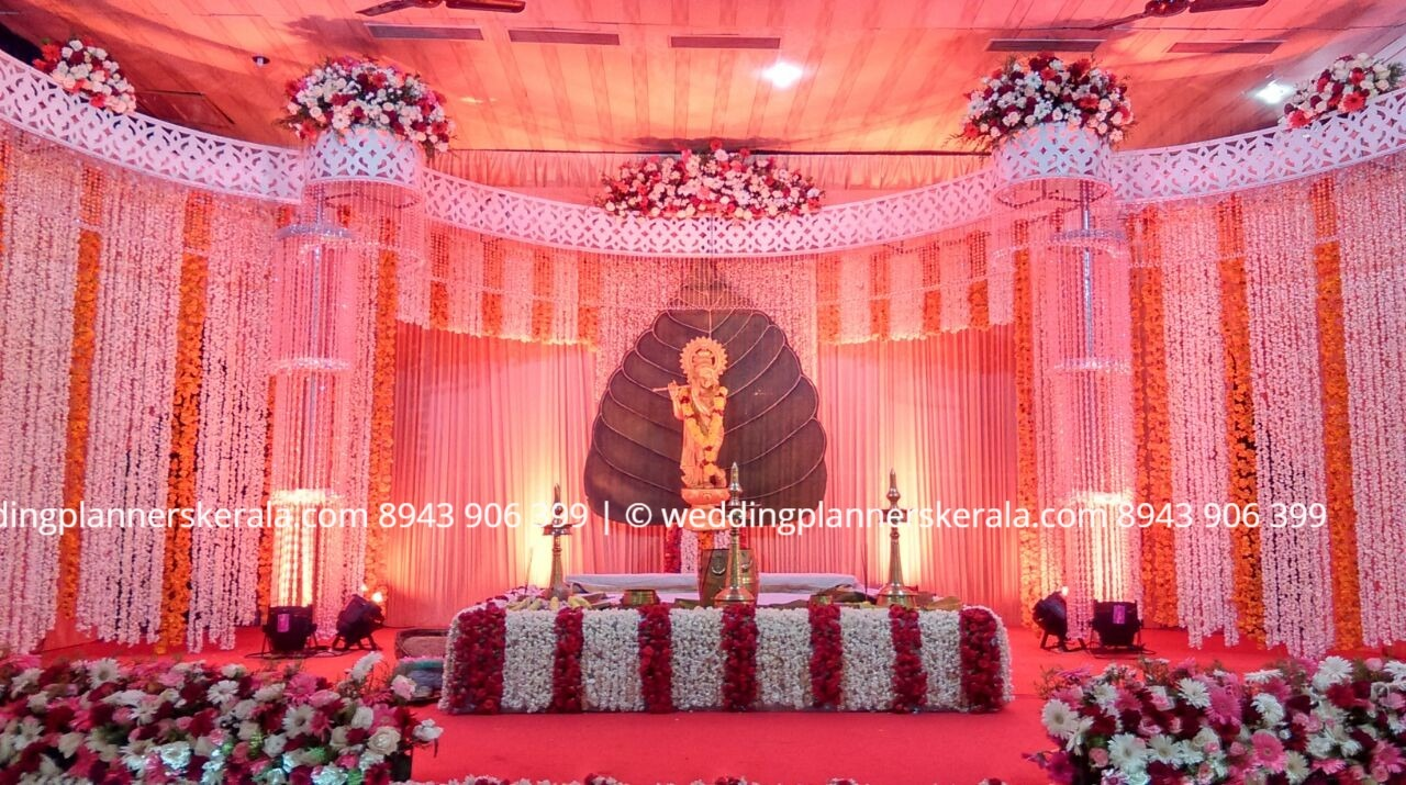 Hindu Wedding stage Decoration Crystal Type by  Kerala Wedding Planners - Stage Decorators