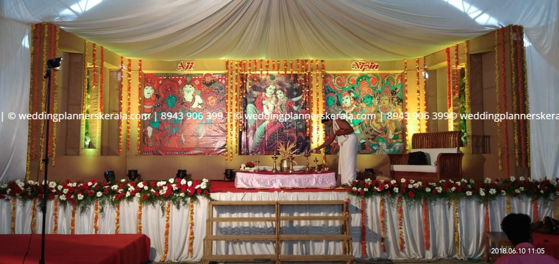 Jute Hindu Wedding stage Decoration for Hindu