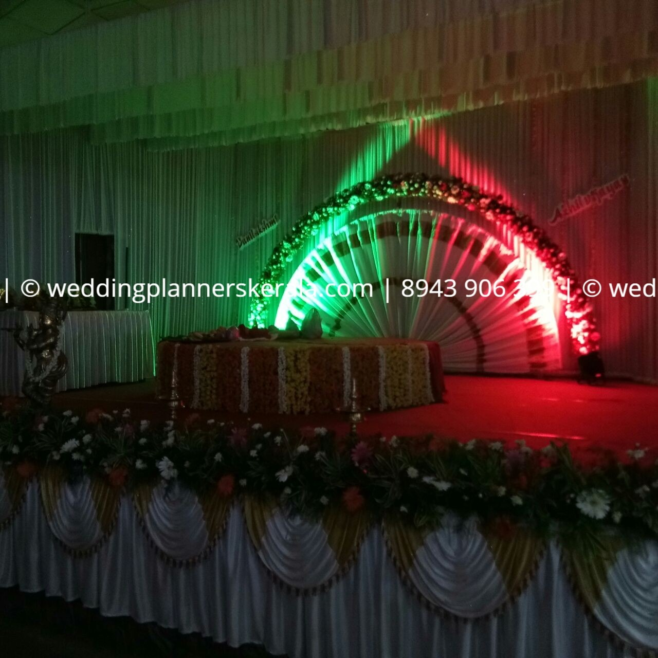 Traditional Hindu Wedding stage Decoration Kerala