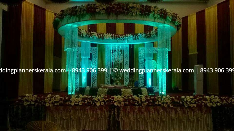 Crystal Wedding stage Decoration Kerala