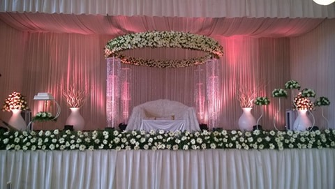 White and Pink Stage Decoration