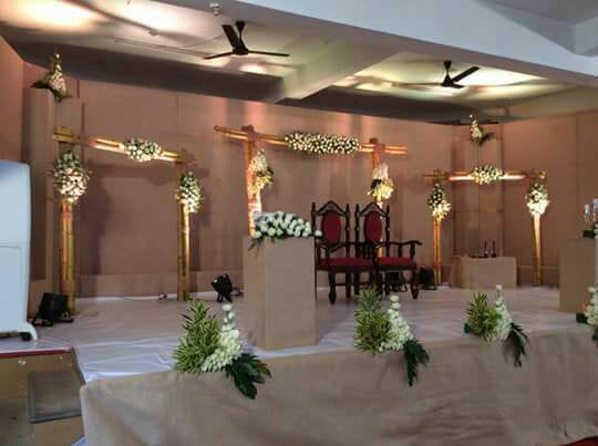 Jute Stage Decoration with Bamboo. Stage Decoration Ernakulam, Kerala
