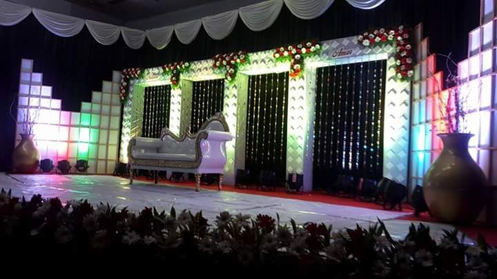 Box type crystal wedding stage decoration