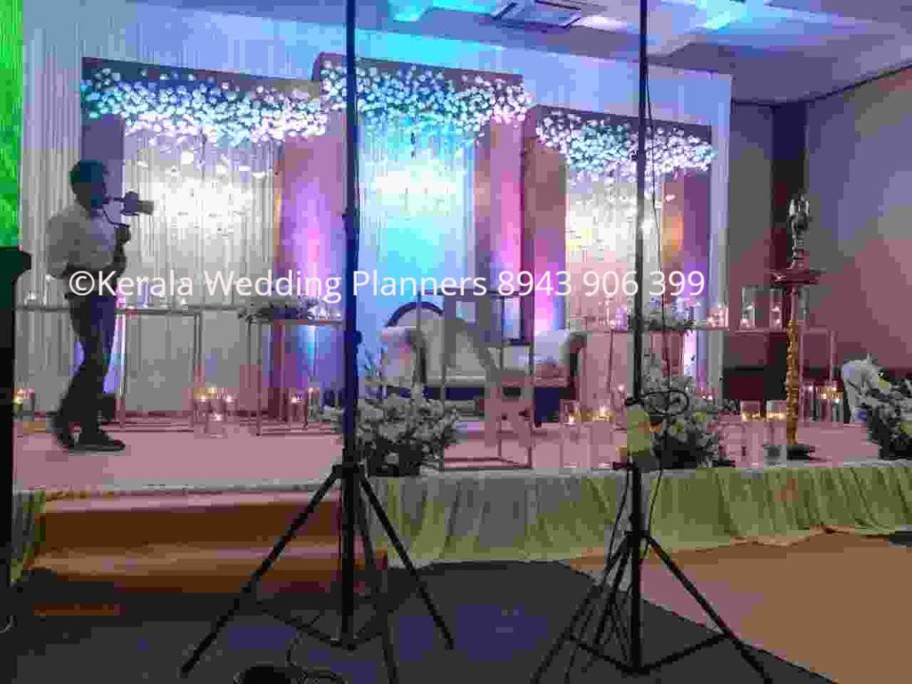chandelier wedding stage decoration Kerala