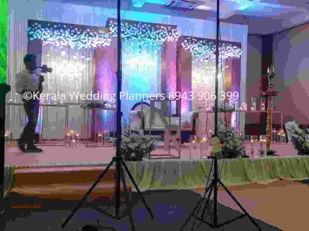 chandelier wedding stage decoration Kerala