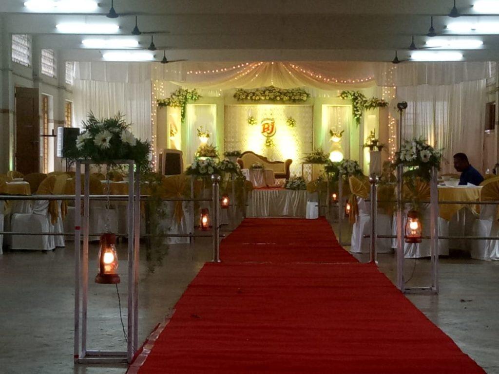 Wedding Stage Decoration in Aluva by Kerala Wedding Planners 90 a first floor canal road giri nagar kadavanthra