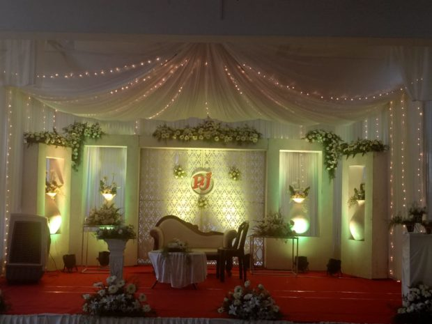 Wedding Stage Decoration in Aluva by Kerala Wedding Planners 90 a first floor canal road giri nagar kadavanthra
