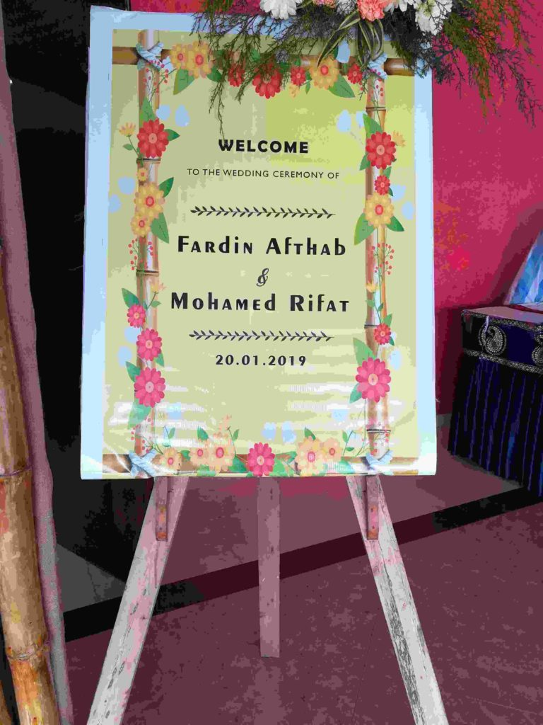 Bamboo Wedding Entrance Decoration at adlux Angamaly