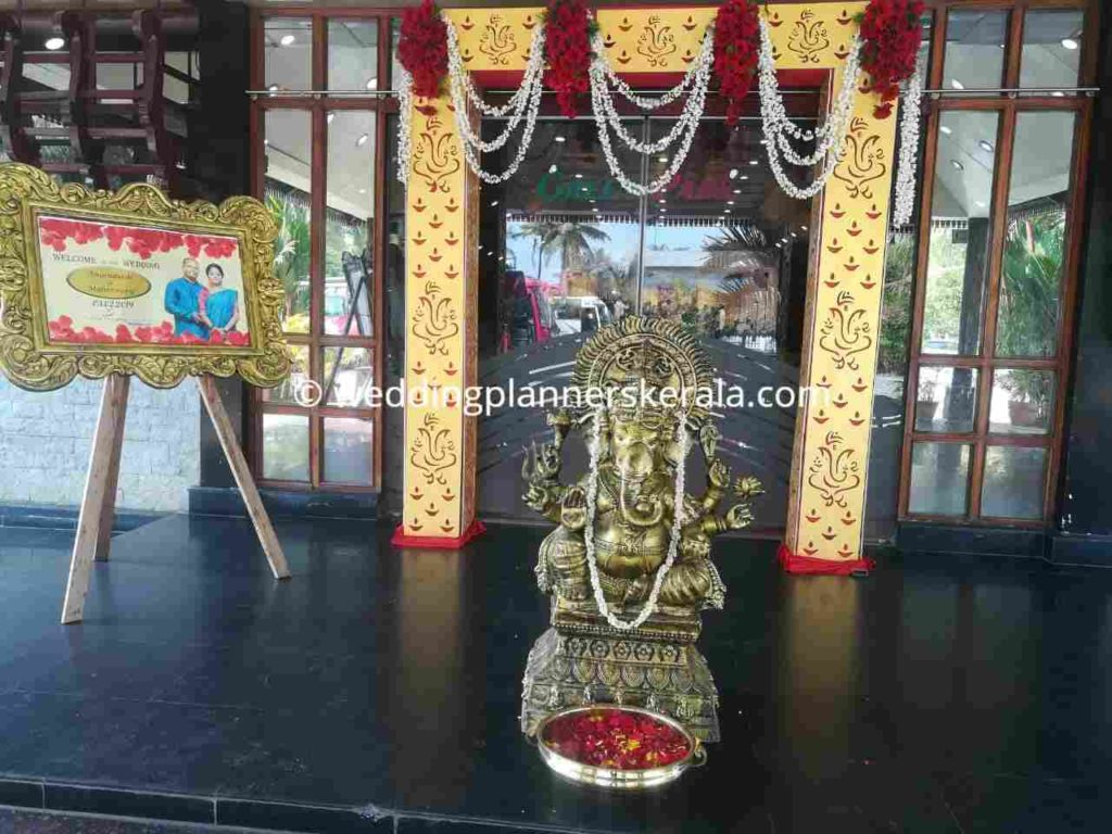 Kerala Hindu Wedding Entrance Decoration
