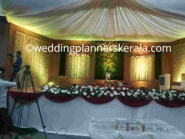 Jute rustic Stage Decoration for Traditional Hindu Wedding