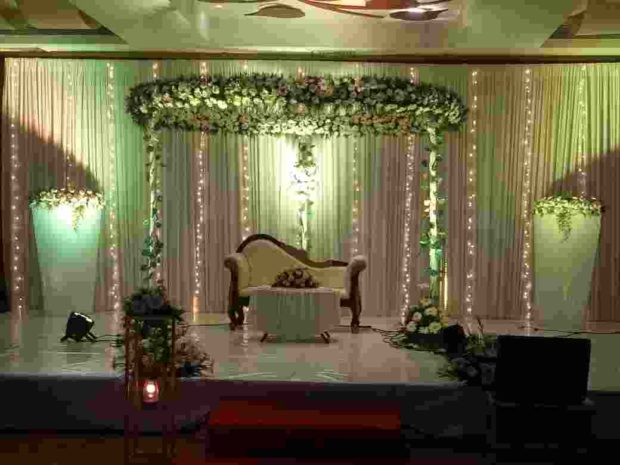 Green Wedding Stage Kerala Wedding Planners