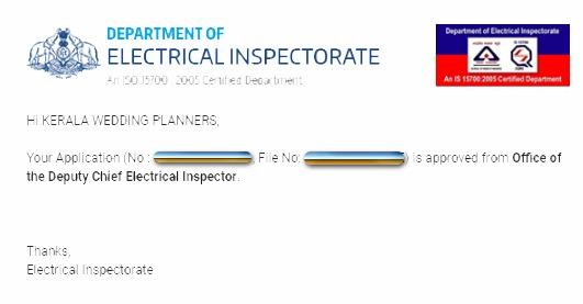 KSEB Diesel Generator inspection certificate copy